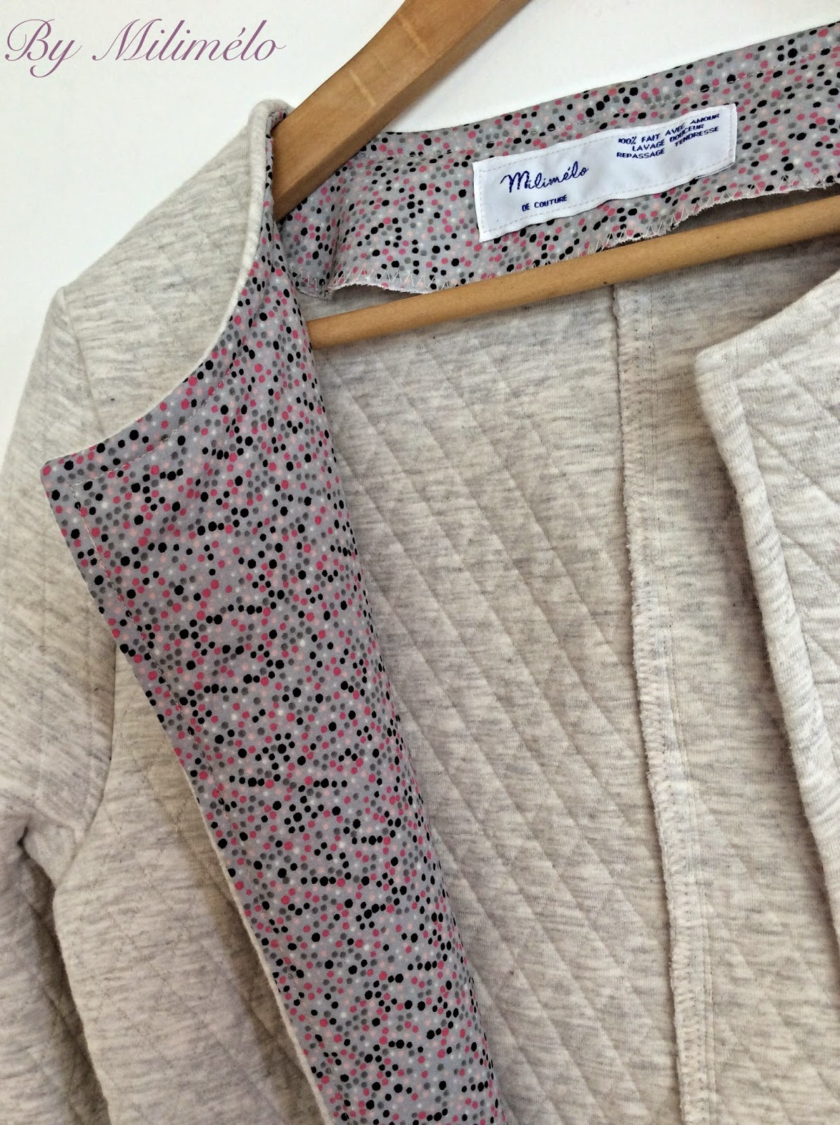 Milim lo de couture la veste mona for Couture a la maison