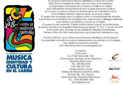 CONGRESO IDENTIDAD Y MUSICA CARIBE