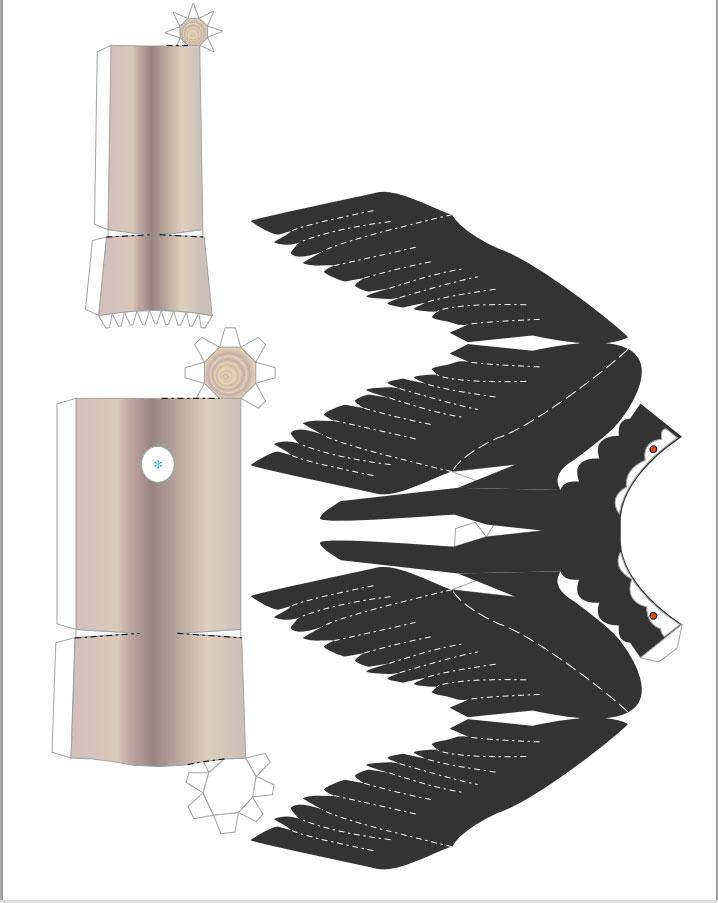 plantilla de halcon