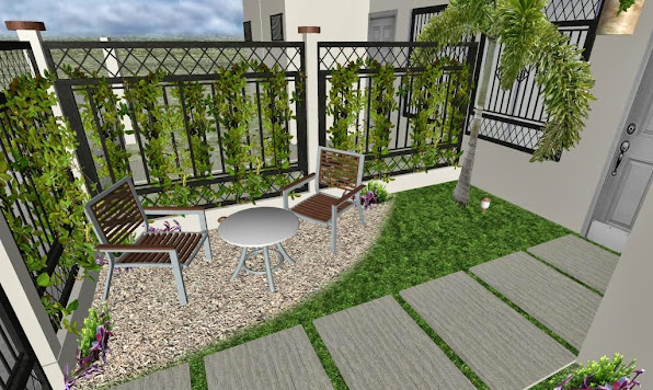 diseño 3D jardin pequeño fachada - foto 4