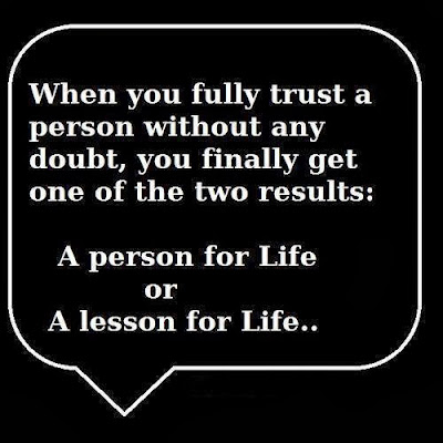A lesson for life