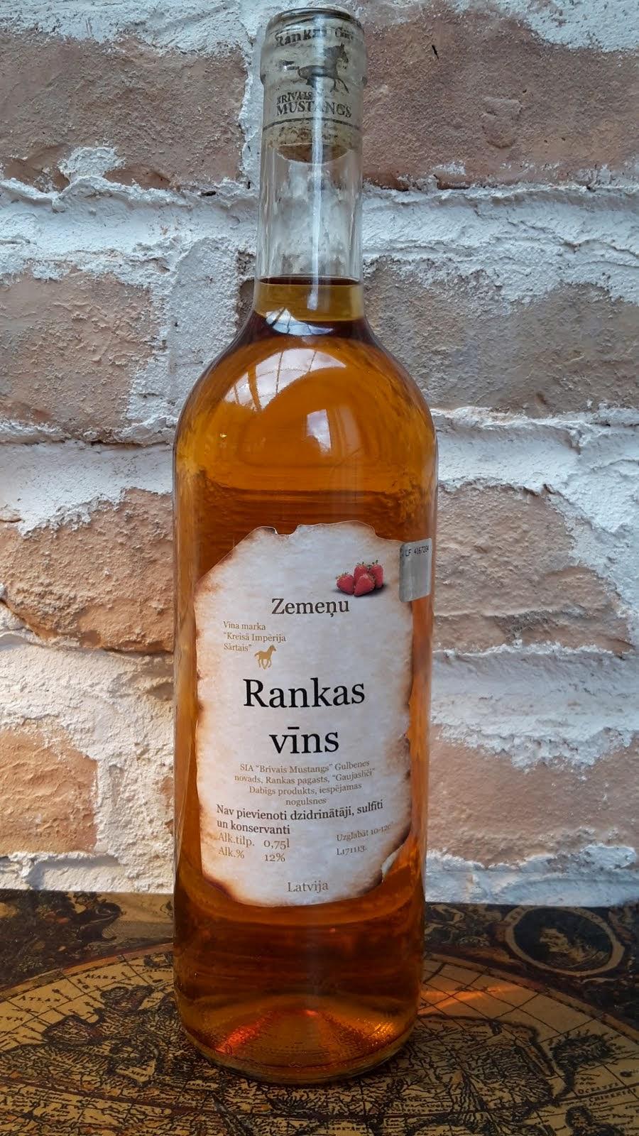 Zemeņu pussaldais vīns 0.75 l