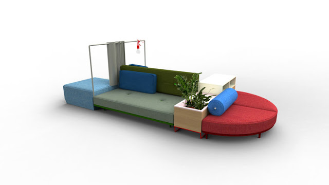 Bikini Island by Werner Aisslinger, debuting at Milan Furniture Fair 2013 (via Nest of Pearls)
