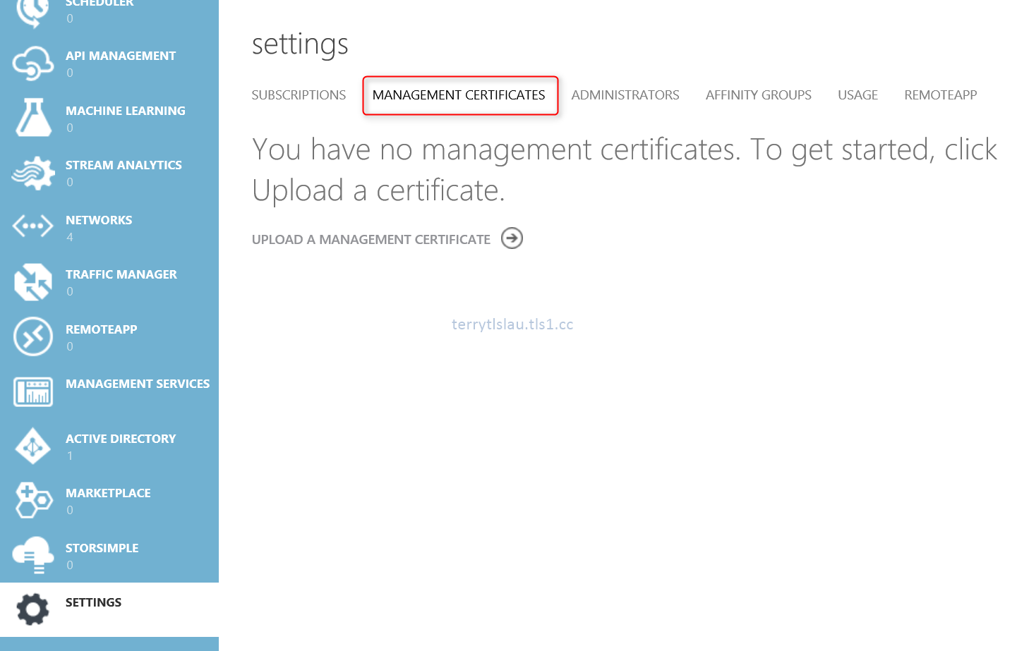 Terry lus blog use certificate for authentication on microsoft log in your microsoft azure subscription with the default browser xflitez Gallery