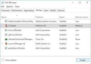 Cara Mematikan/Disable Startup Pada Windows 10