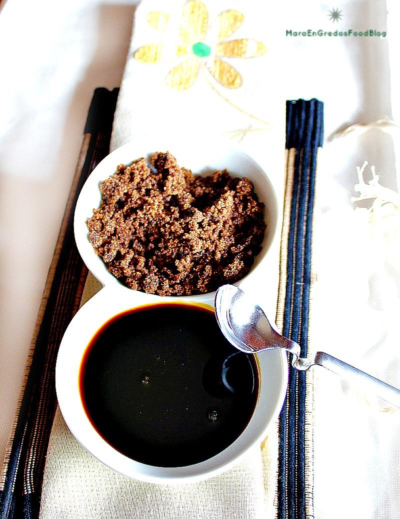 Crema inglesa con miel de caña y peras en almíbar. http://www.maraengredos.com/