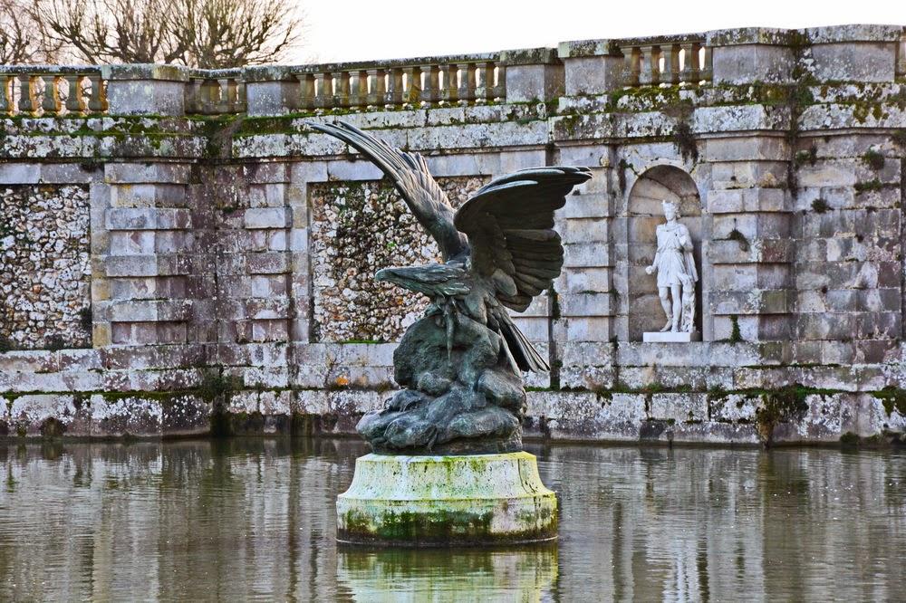 sculpture du chateau de fontainebleau