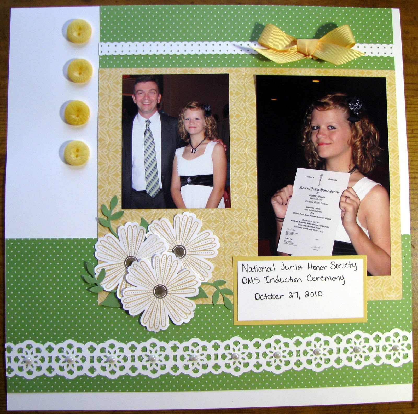 Stacys Stampin Spot National Junior Honor Society Induction