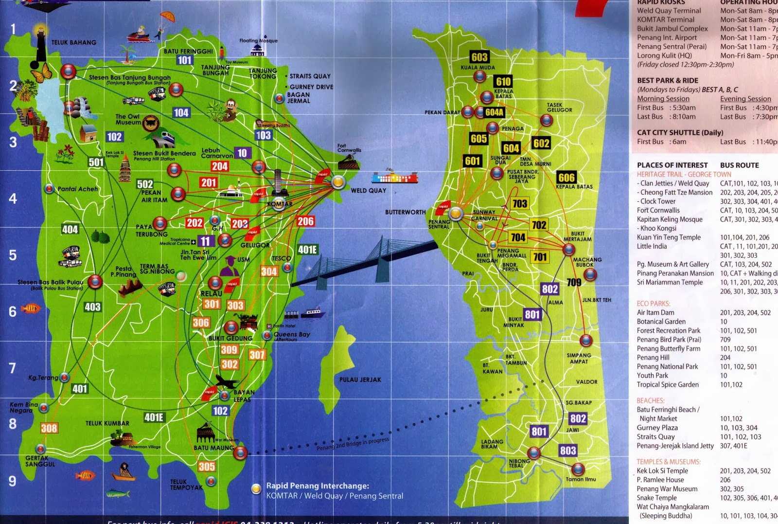 Penang Map For Tourist