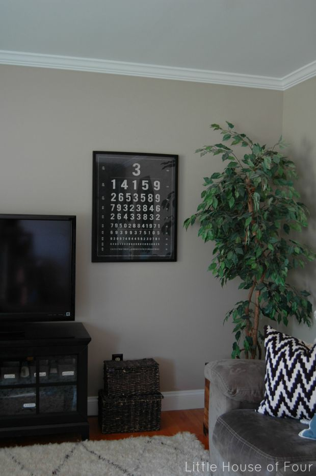 Living room update- numbered eye chart
