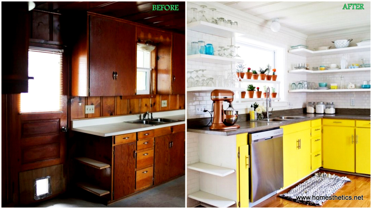 Beautiful things are love and dreams antes e depois for Before after kitchen makeovers