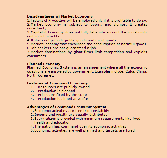 07 Evaluation Of The Relative Merits Of Different Economic Systems