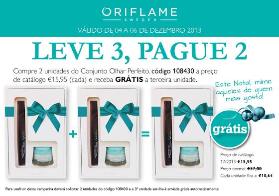 Campanha Compre 3 e Pague 2 - Conjunto Olhar Perfeito Oriflame