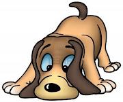 sábado, 23 de junio de 2012 perros olfateando dibujos de colores como ilustracion vectorial