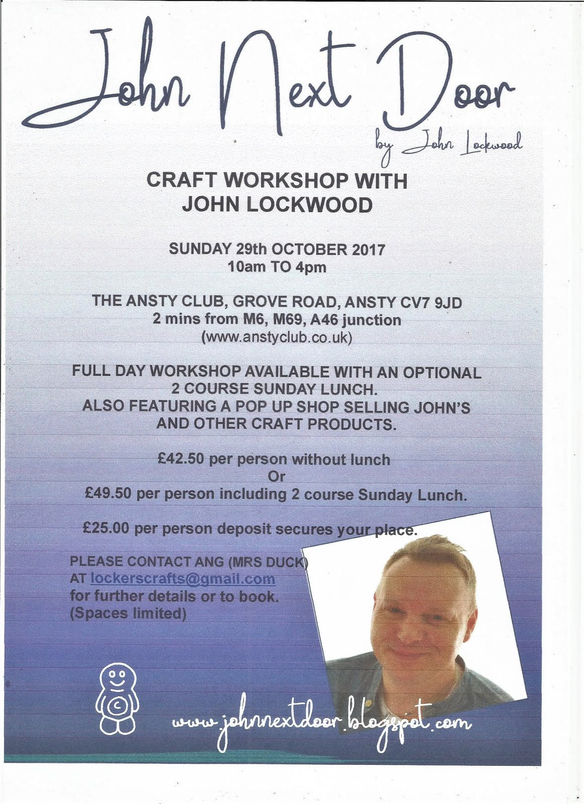 ANSTY WORKSHOP - 29th October 17