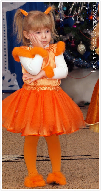 Новогодние костюм для девочки своими руками белочка