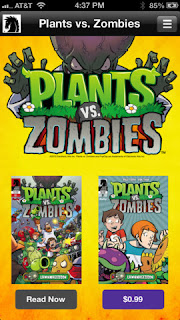 Lawnmageddon! comic from Plant vs Zombies now available on iOS devices for free as a promo, download now!