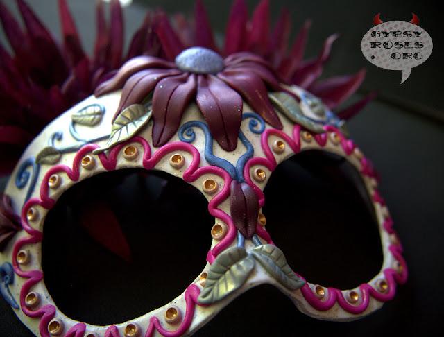 Handmade, OOAK, Sugar Skull (Calavera) Mask