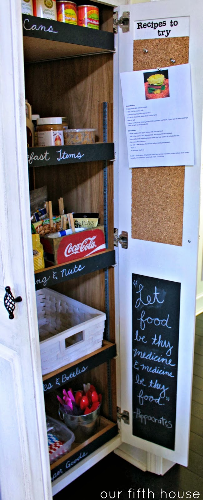 These little pantry doors are totally working double duty now! Yet ...