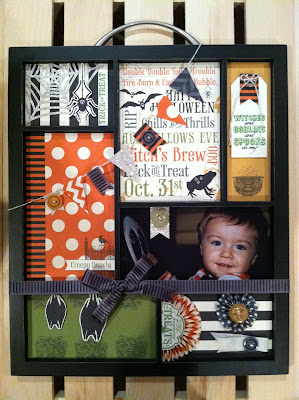 Handmade Paper-Craft Photo Tray www.jennsavstamps.blogspot.com