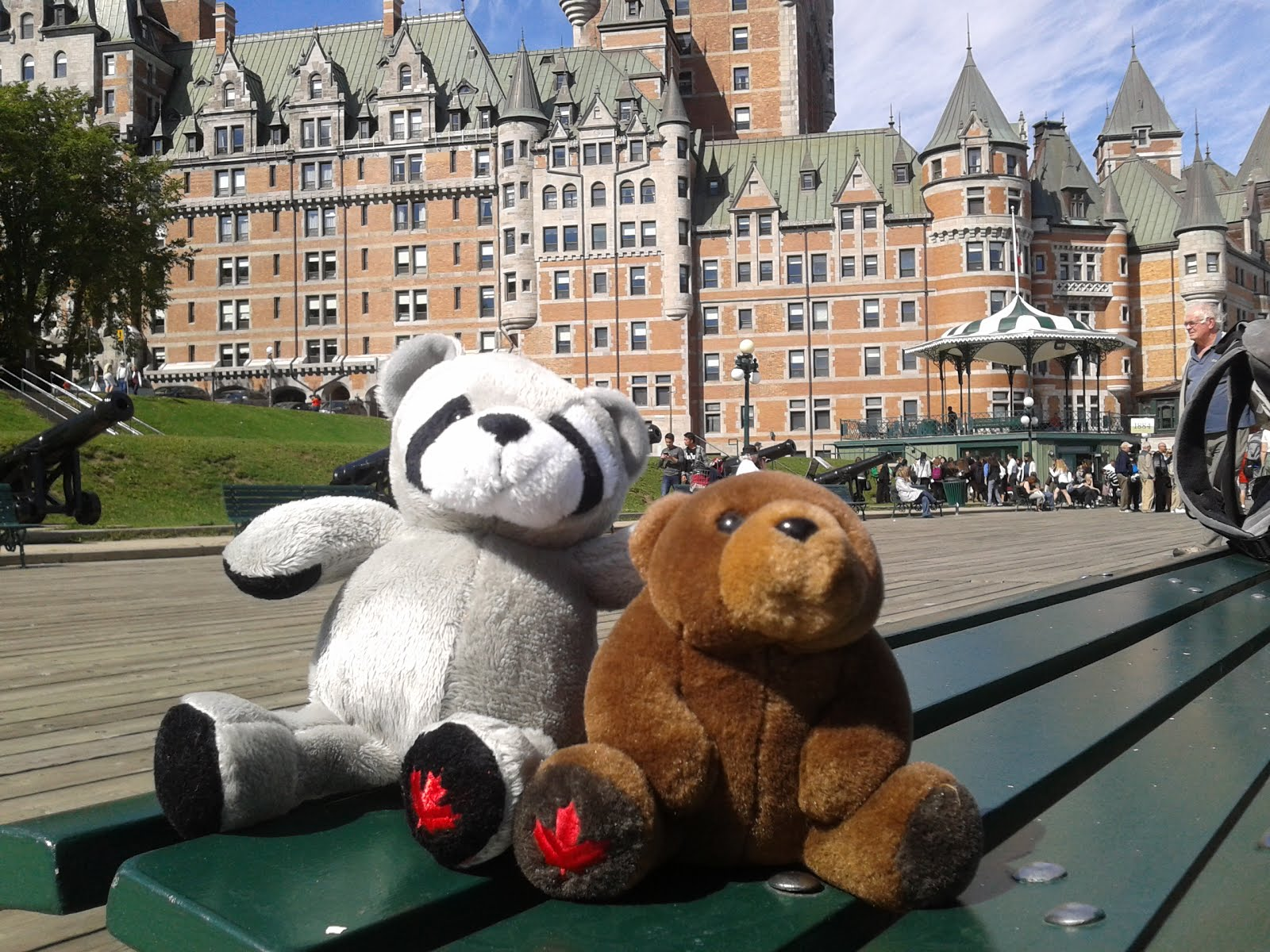 With new friend in front of Château Frontenac