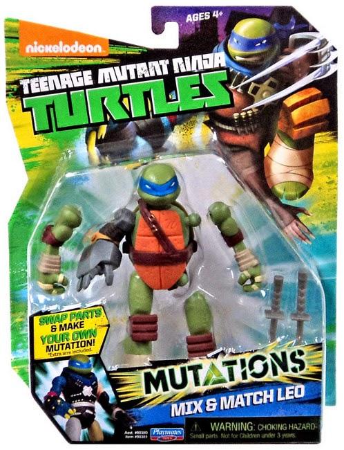 JUGUETES - LAS TORTUGAS NINJA : Mutations  Mix & Match Leo | Leonardo | Figura - Muñeco | 2015 Teenage Mutant Ninja Turtles | TMNT | Nickelodeon Producto Oficial 2015 | Playmates- Giochi Preziosi | A partir de 4 años