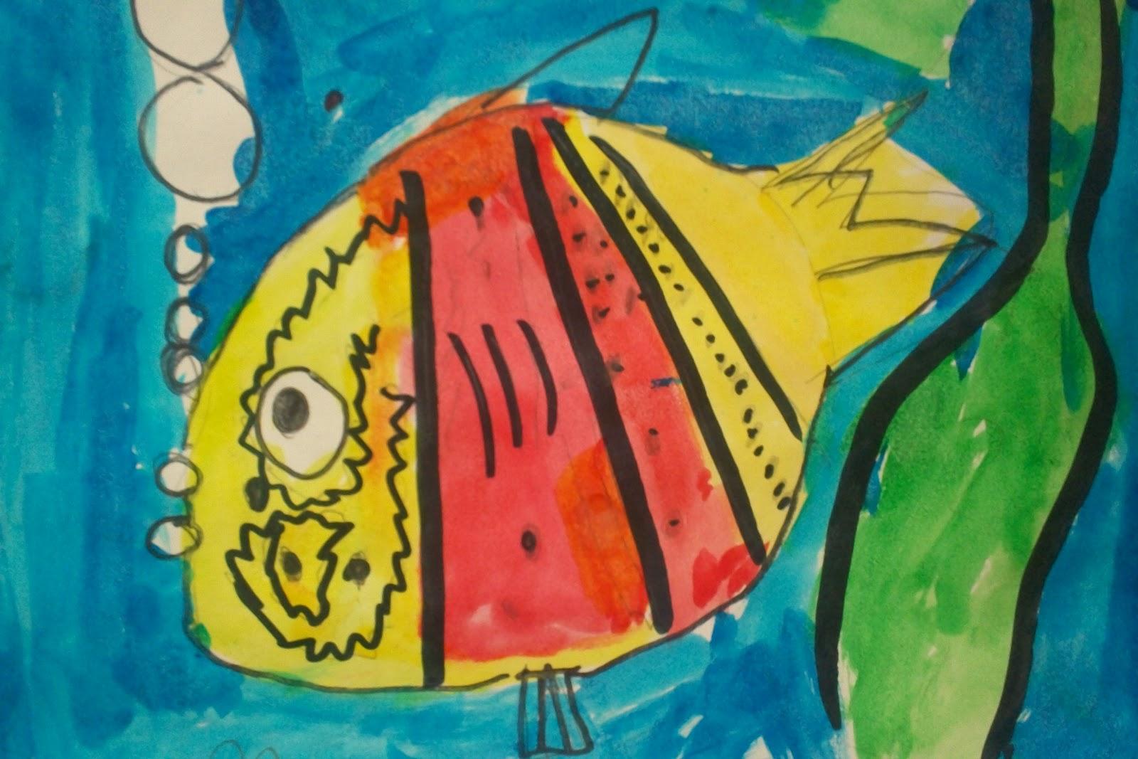 Art With Mr. E: Watercolor Fish: Kindergarten