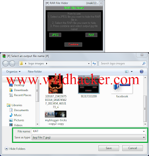 hide keylogger file in image