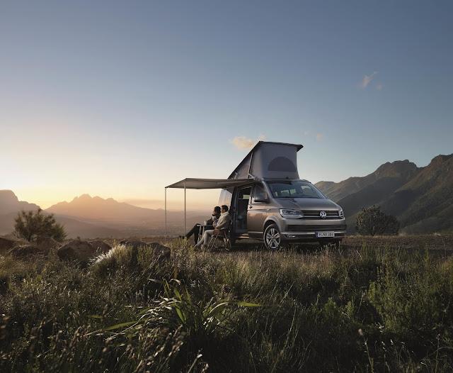 VW Camper Van in field