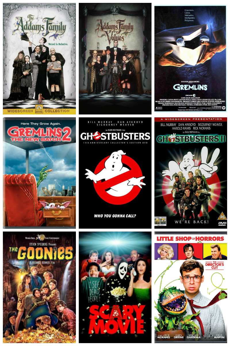 54 Not So Scary Movies for Halloween!
