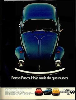 propaganda fusca - 1975. brazilian advertising cars in the 70. os anos 70. história da década de 70; Brazil in the 70s; propaganda carros anos 70; Oswaldo Hernandez;