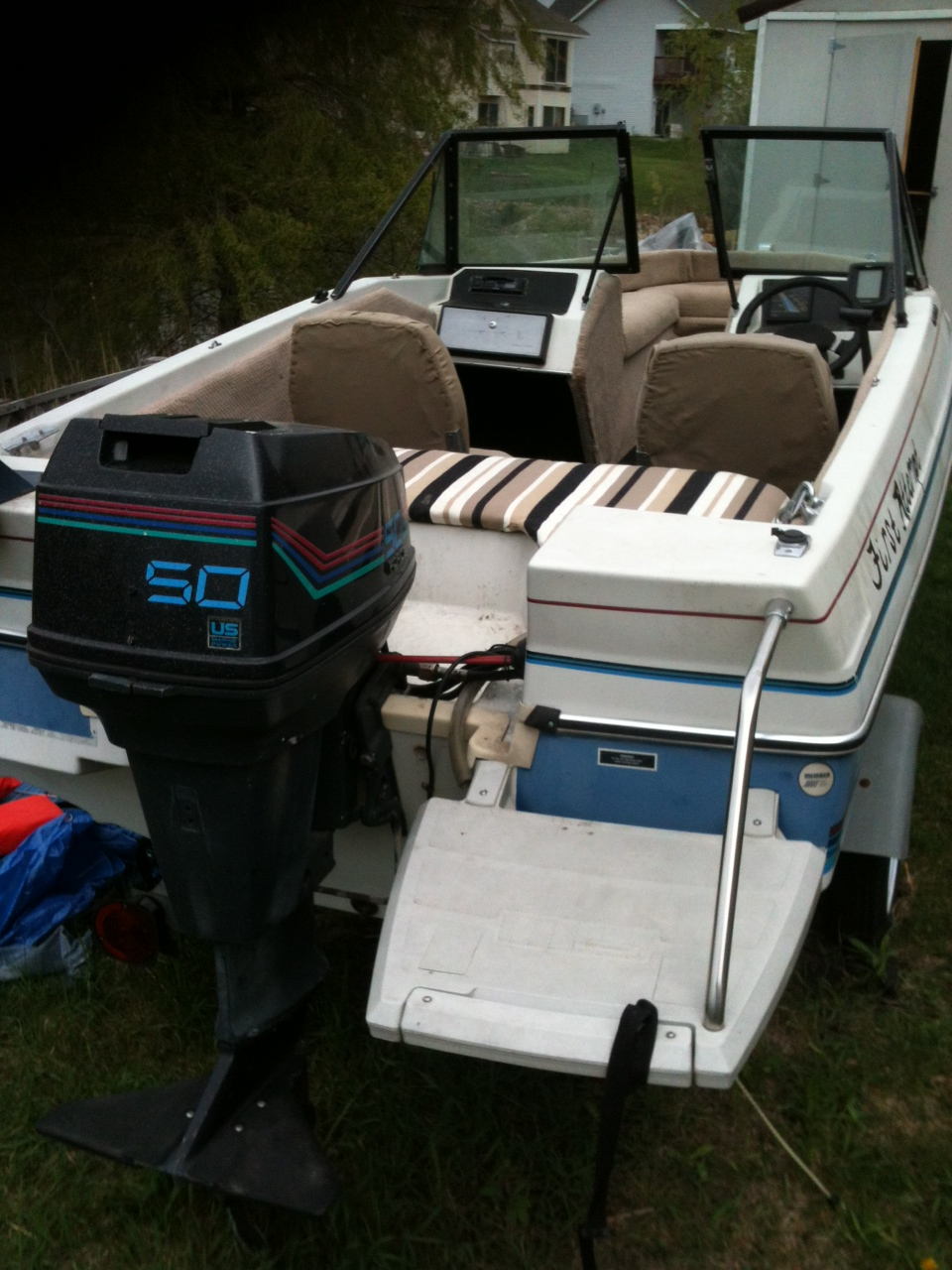 Contact Marcus at 612-803-5211 if you are interested in this boat. Please serious buyers only. If the boat is still posted it is still for sale. & Emu0027s Soapbox: 1988 15u0027 Bayliner Capri run-about boat with 50 hp ...