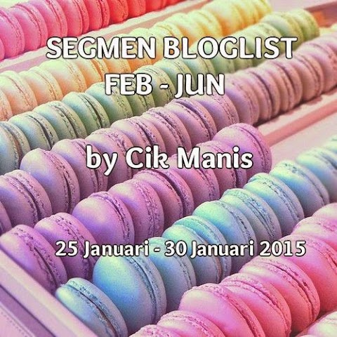 Segmen bloglist Feb-Jun by Cik Manis