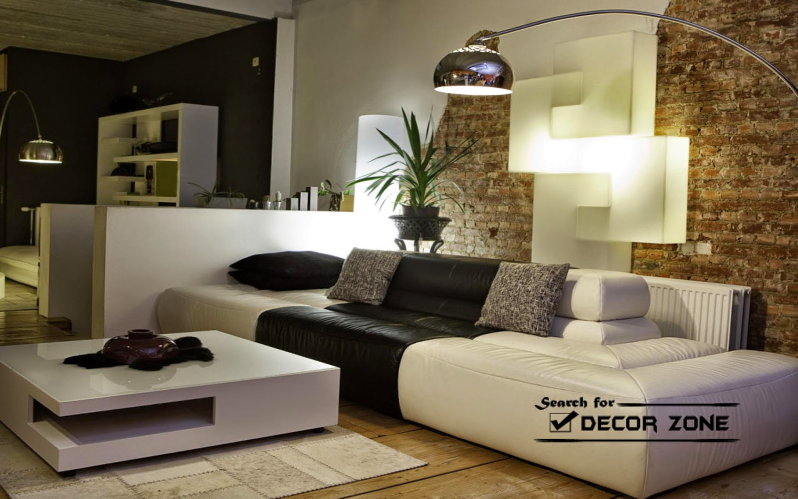 Black and white living room furniture modern house for Modern white living room furniture