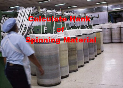 Calculate Hank of Spinning Material