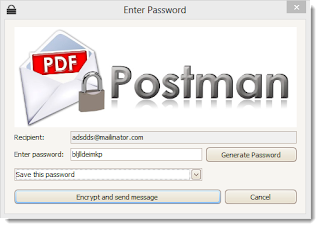 "Image shows PDF Postman's ""Enter Password"" page."