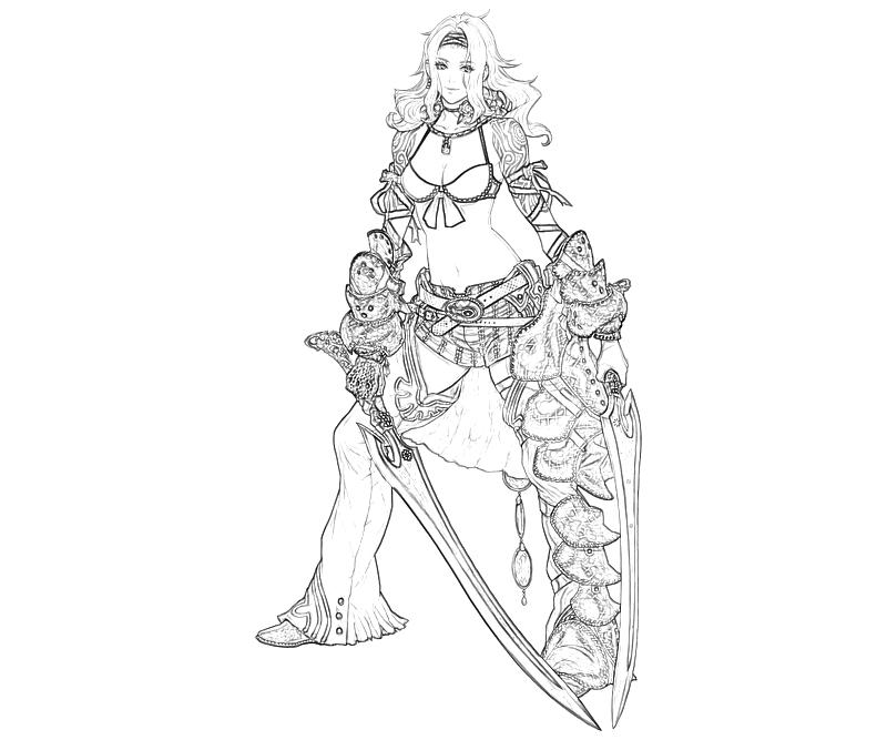 the-last-story-syrenne-character-coloring-pages