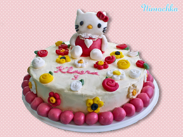 Hello Kitty, sugar figurine, cake, sugar paste, birthday