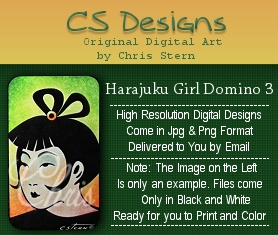 Harajuku Girls Domino Digistamp Series