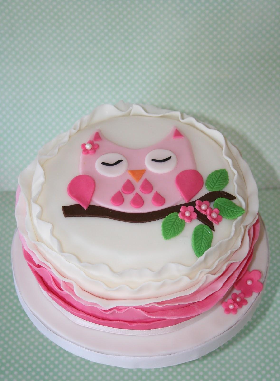 lemon tree bakery pretty pink owl with ruffles