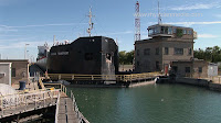 Welland Canal Lock 7 in Thorold Ontario Canada