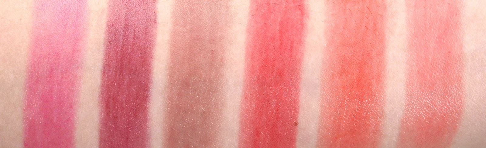Yves Rocher Sheer Botanical Lipsticks swatches
