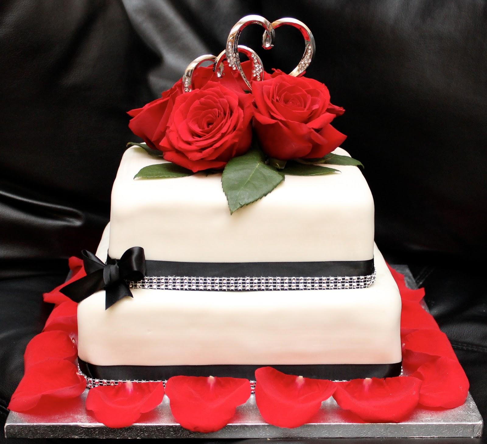 Love Dem Goodies: Red Roses Wedding Cake