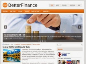 BetterFinance - Free Wordpress Theme