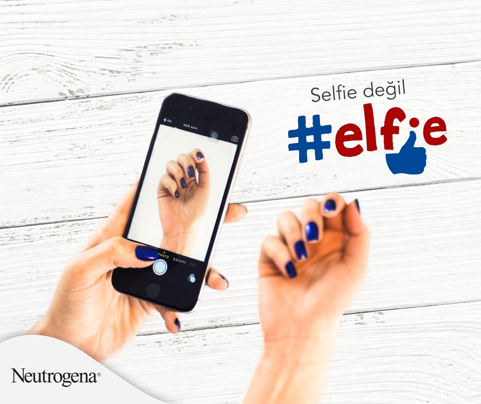selfie - elfie - neutrogena - Neutrogena el kremi