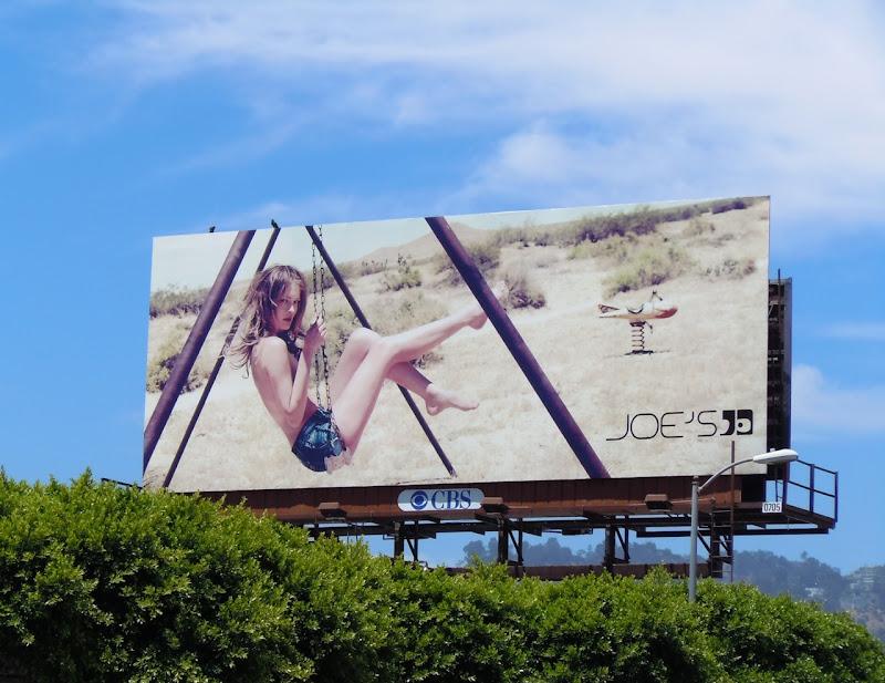 Joes Jeans swing model billboard
