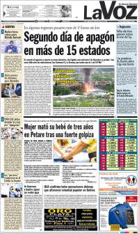 05/12//2019 PRIMERA PAGINA DE LA VOZ DE MIRANDA