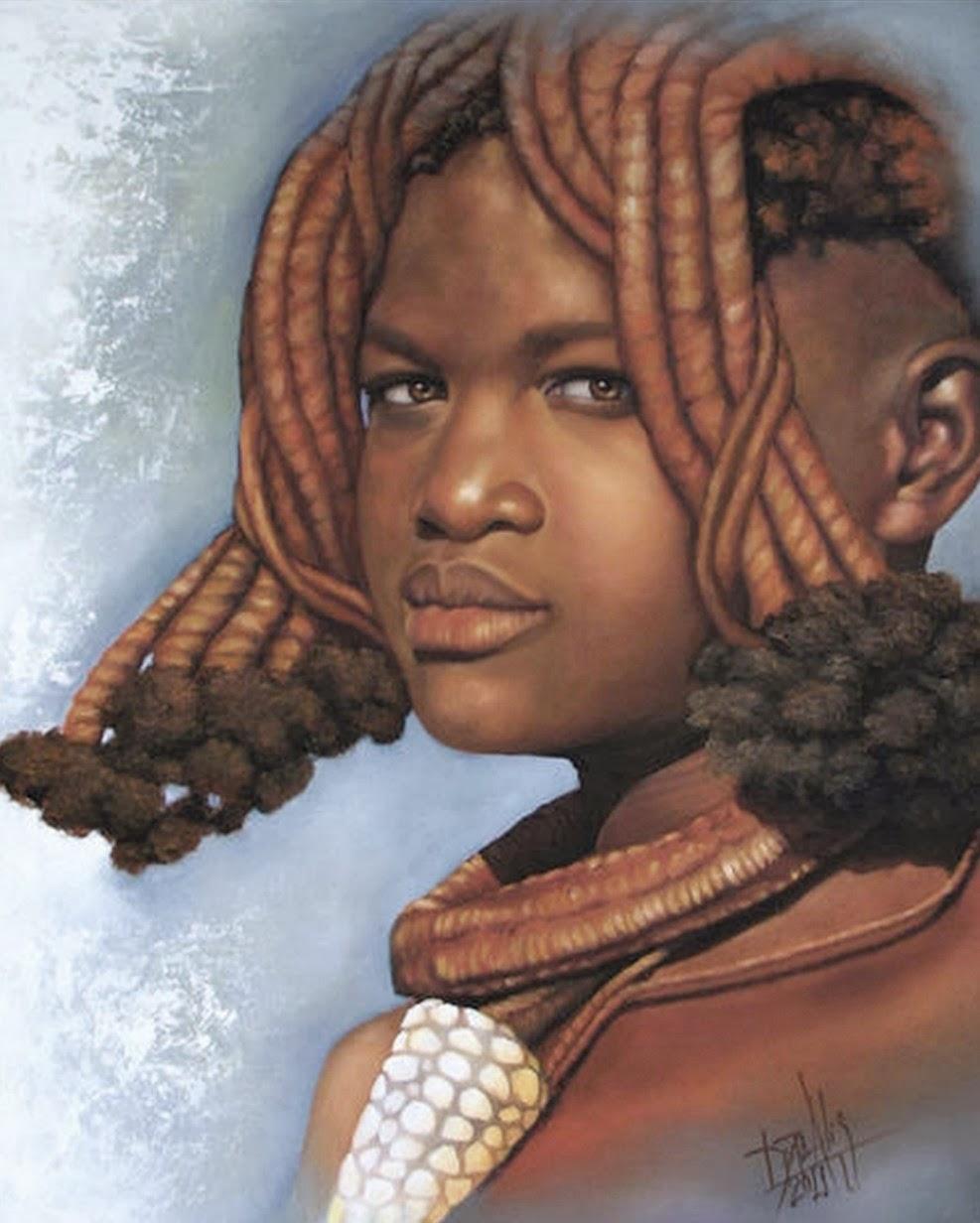 rostros-africanos-al-oleo