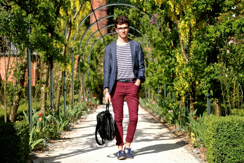 Asos Blazer Skinny Jeans - Craft&Commerce Tshirt - Arsène espadrilles - Givenchy messenger bag - Fashionology Collier triangle - Marc-Antoine Barrois bracelet - BLOG MODE HOMME MENSFASHION