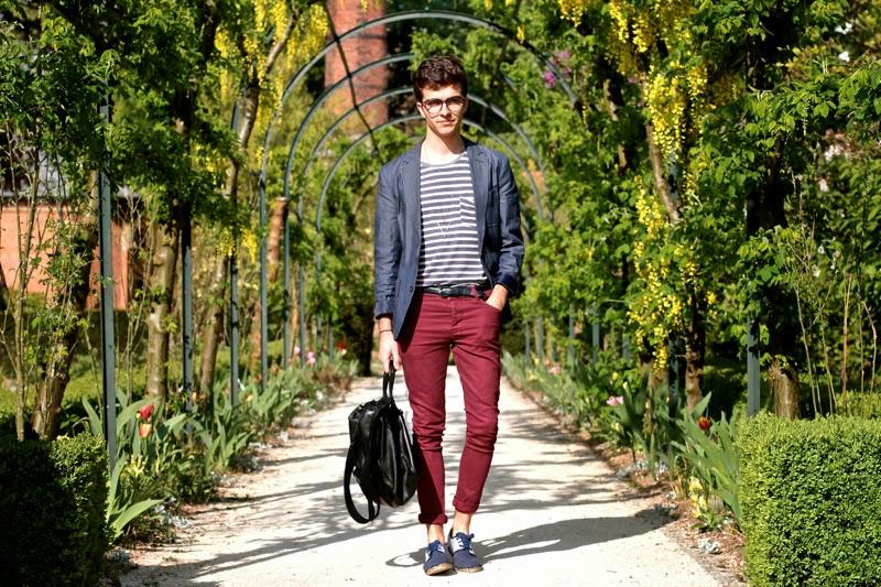 Asos Blazer Skinny Jeans - Craft&Commerce Tshirt - Arsène espadrilles - Givenchy messenger bag - Fashionology Collier triangle - Marc-Antoine Barrois bracelet - BLOG MODE HOMME MENSFASHION